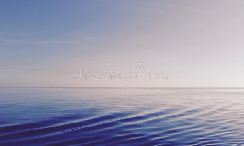 Abstract view of the ocean and the sky royalty free stock images