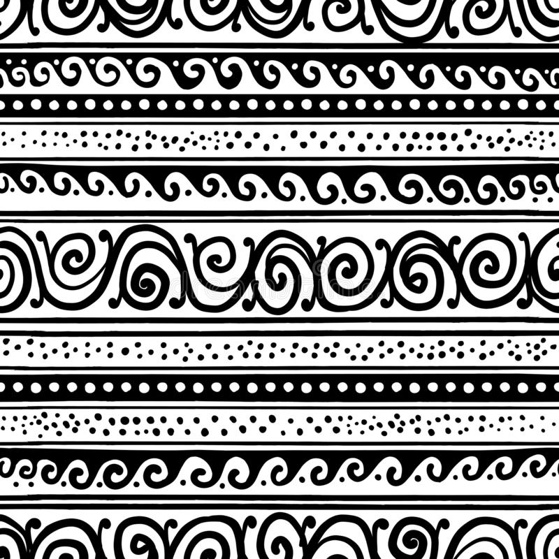 Abstract vintage border, seamless pattern for your design royalty free illustration