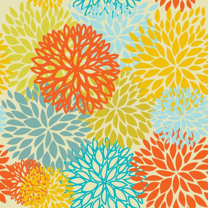 Abstract vintage floral background stock illustration