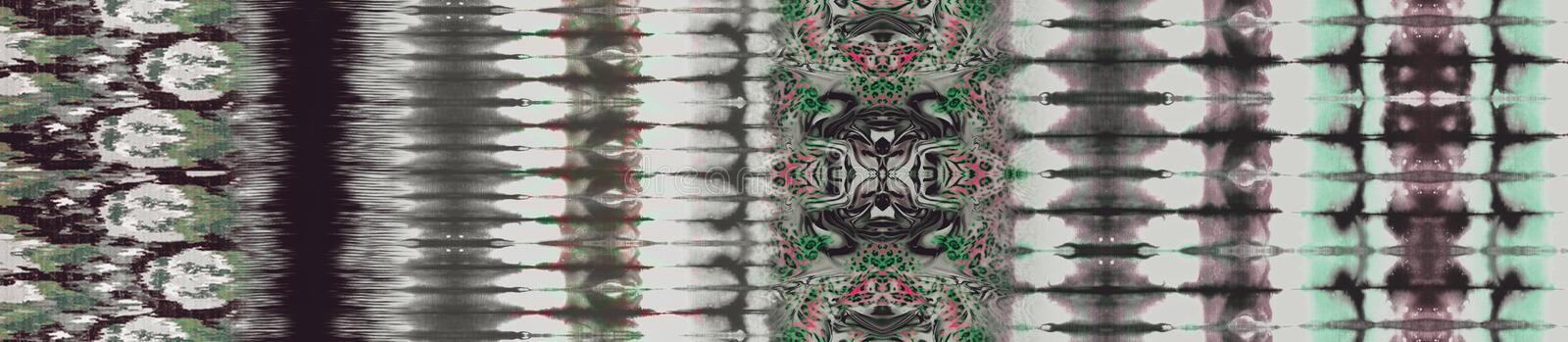 Abstract vintage green tie dye design background. Shibori,abstract background royalty free illustration