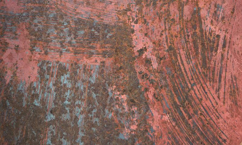Abstract vintage old painted rust steel sheet background stock photo
