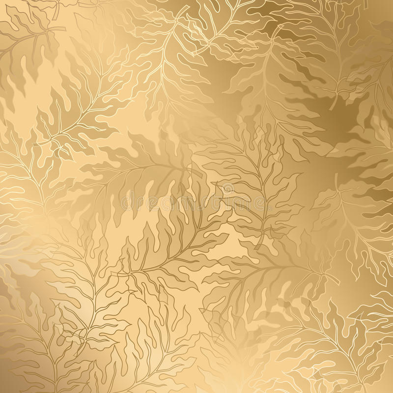 Abstract vintage seamless damask pattern royalty free illustration