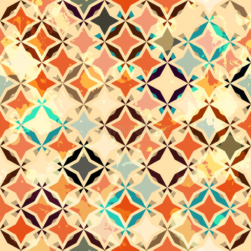 Download Abstract Vintage Star Seamless Stock Vector - Image: 26851272
