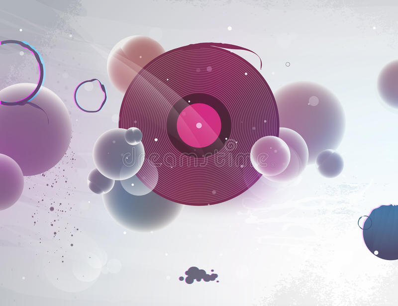 Abstract vinyl record for the dj stock illustration