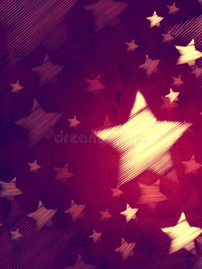 Abstract violet background with striped stars, vertical vector illustration