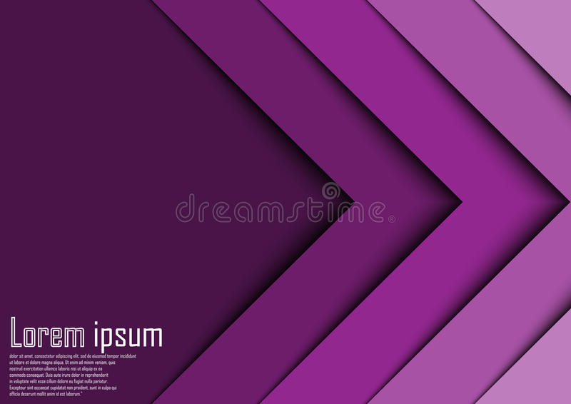 Abstract violet 3d arrow wave line certificate abstract background. Eps 10 stock illustration