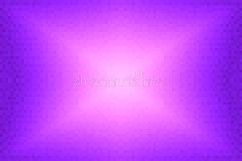 Abstract violet and pink radiant gradient background. Texture with pixel square blocks. Mosaic pattern vector illustration