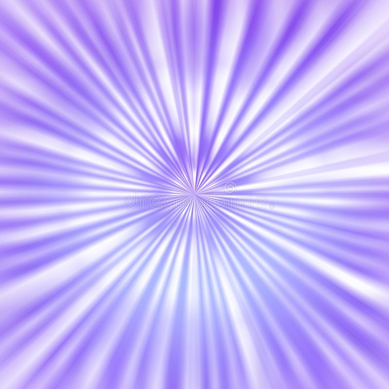 Radial Bright Rays in Violet Background stock illustration