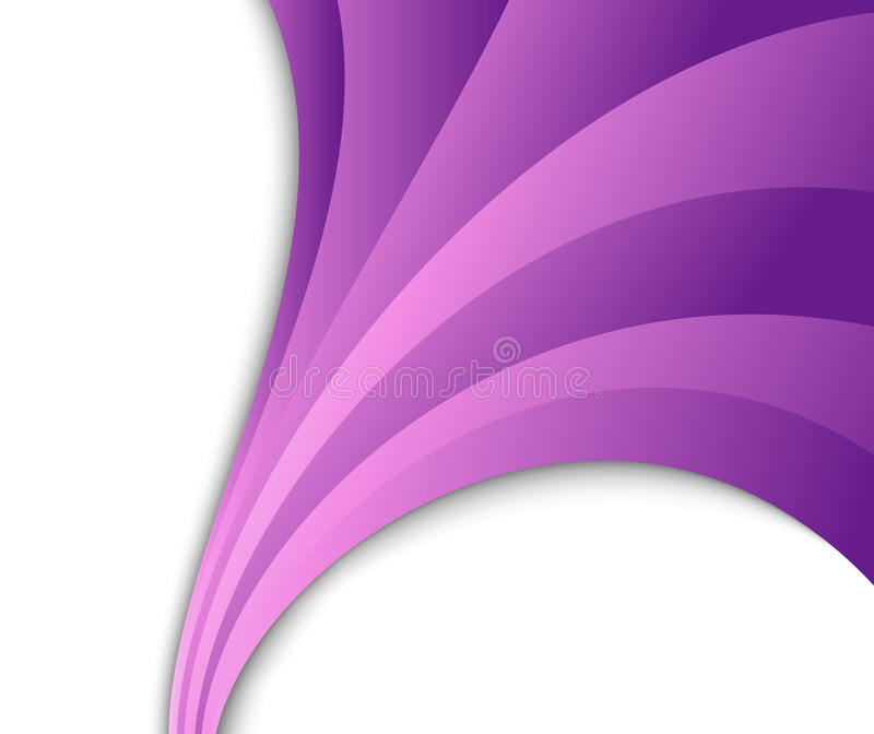 Abstract violet wave flow. Clip-art royalty free illustration