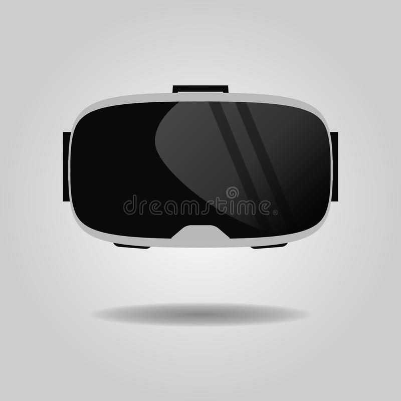 Abstract virtual reality glasses icon on gray gradient background royalty free illustration