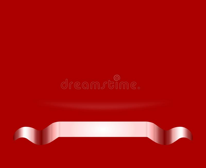 Download Abstract Vivid Red Award Certificate Background Wallpaper With Curve Gradient And Metallic Ribbon Stock Photo
