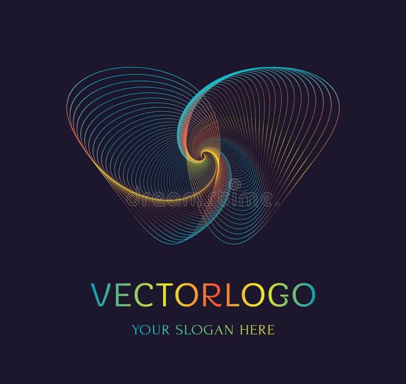 Abstract vlinderembleem Vector symbool royalty-vrije illustratie