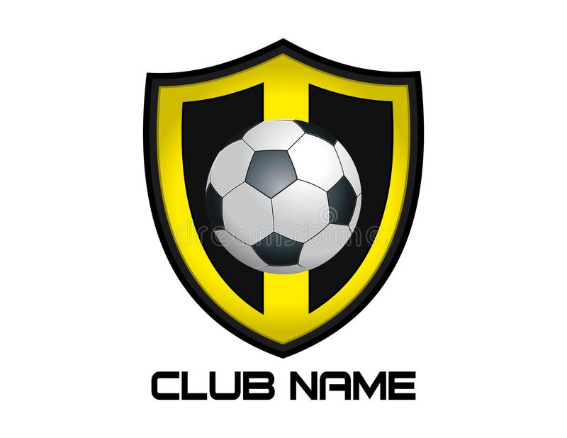 Abstract voetbalembleem op een witte achtergrond vector illustratie