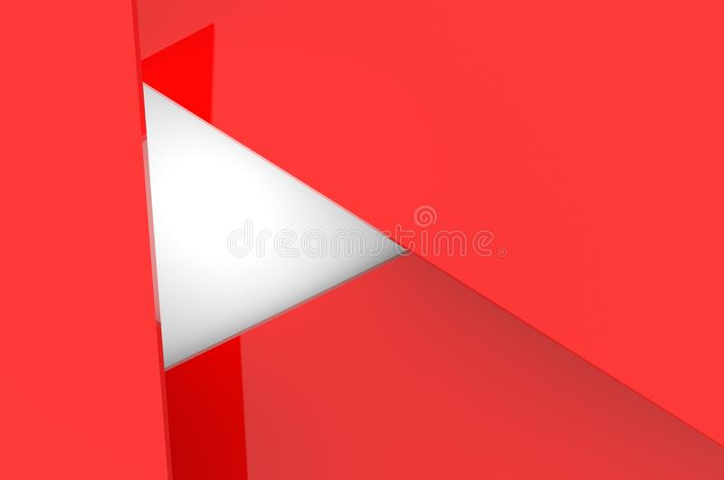 Abstract volumetric background of red triangles. 3d rendering. vector illustration