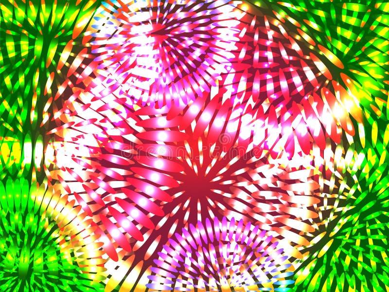 Abstract vuurwerk stock illustratie