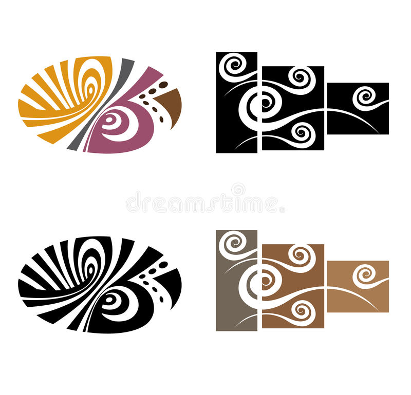 Wall Art Stickers Vector : Abstract wall art sticker stock vector image