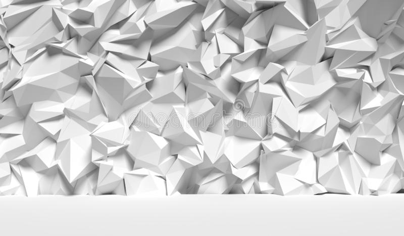 Abstract wall background, 3d render. White abstract wall background, 3d render illustration stock illustration
