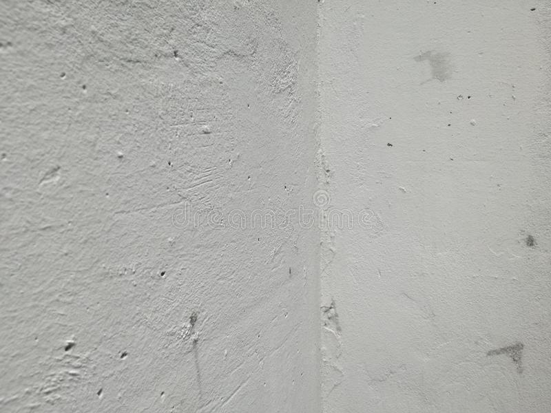 White corner wallpaper. Abstract wall background for texture detail colored huge wall with black and gray print design details graphite line detail stock photo