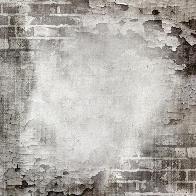 Download Abstract Wall Of Brick And Cracked Paint Stock Illustration - Illustration: 24243752
