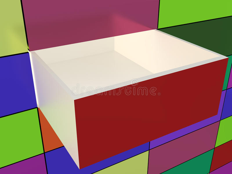 Download Abstract Wall And Opened Box Stock Illustration - Illustration: 33957198