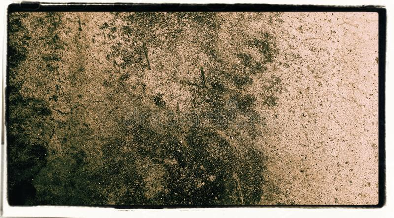 Abstract wall rustic framed edges corner black scratches texture background wallpaper. stock illustration