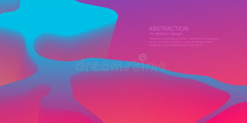 Abstract wallpaper with 3d dynamic shape. Background with motion forms. Futuristic trendy backdrop. Modern layout vector illustration