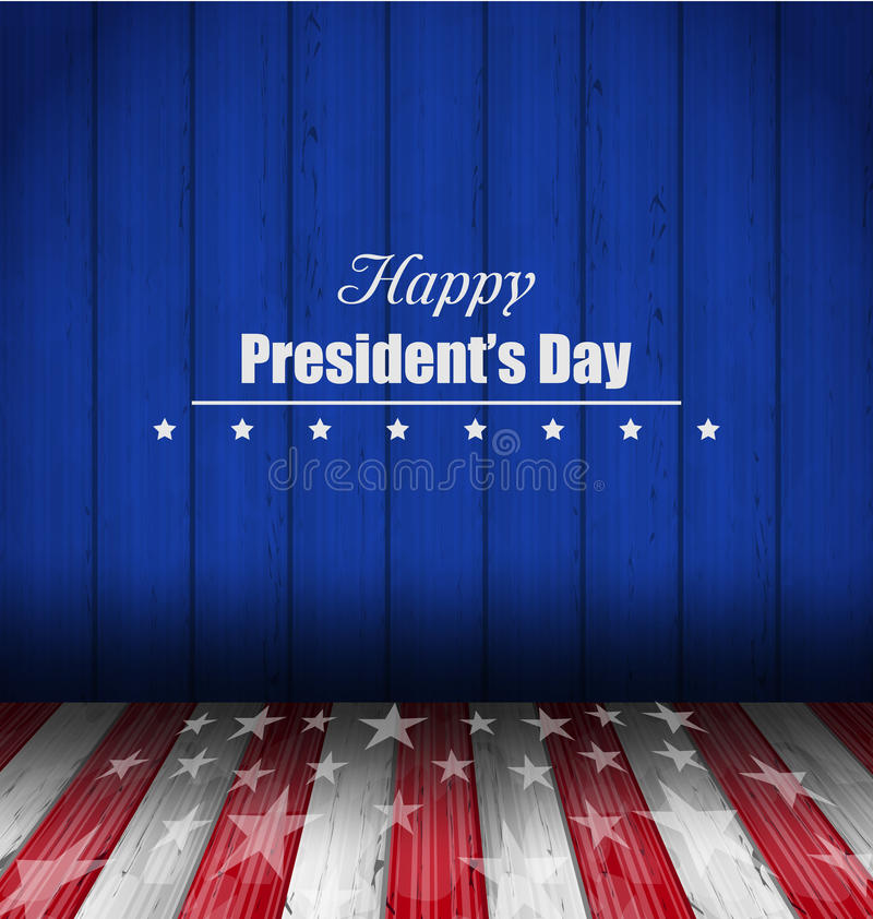 Abstract Wallpaper for Happy Presidents Day of USA royalty free illustration