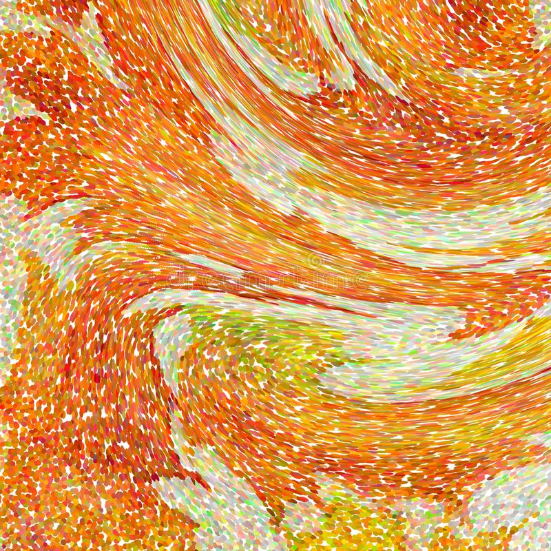 An abstract wallpaper pattern designed in warm autumn colors: bright orange, yellow, red and green colors. An abstract mosaic wallpaper pattern designed in warm vector illustration