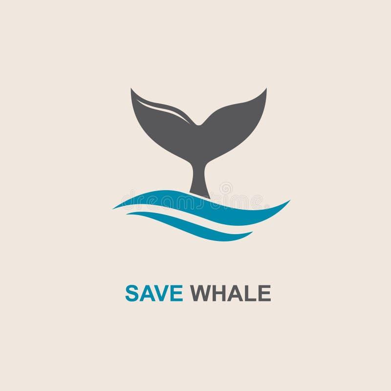 Abstract walvispictogram vector illustratie