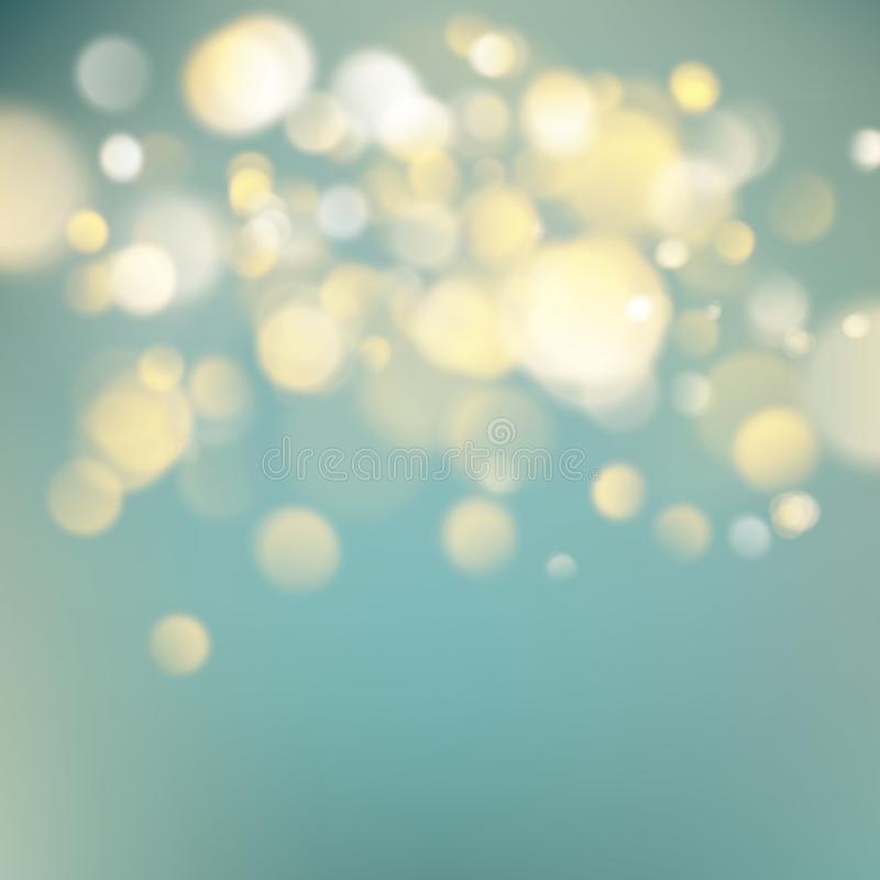 Abstract warm background with orange blur bokeh light effect. Soft colors holiday backdrop. EPS 10 royalty free illustration