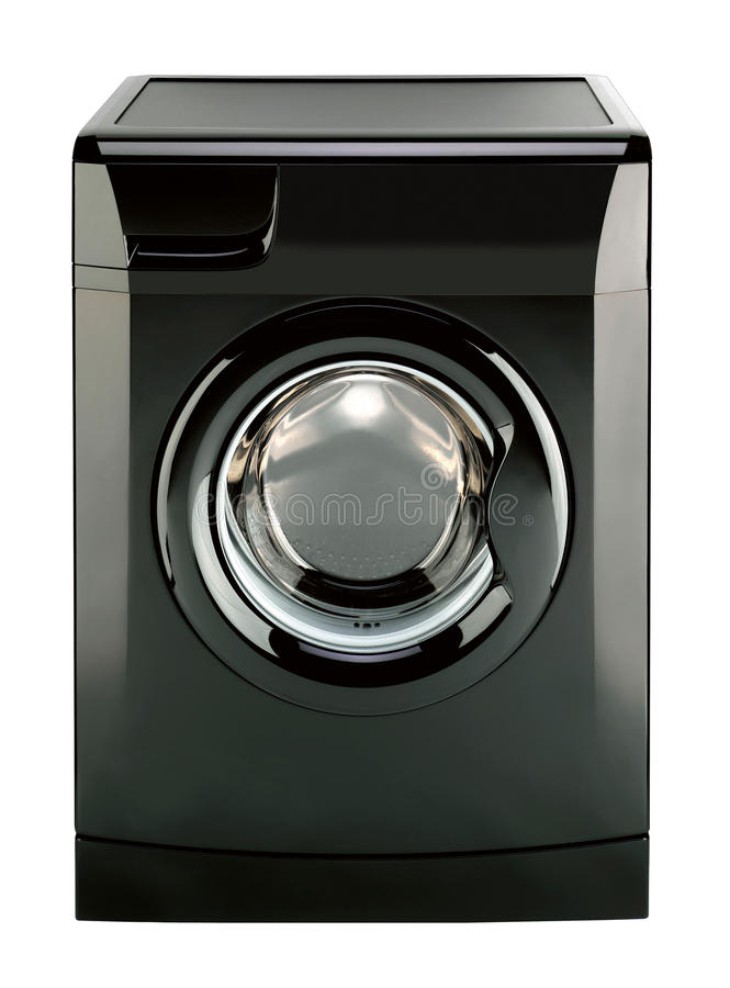 Abstract Washing machine. Isolated on white background with clipping path stock images