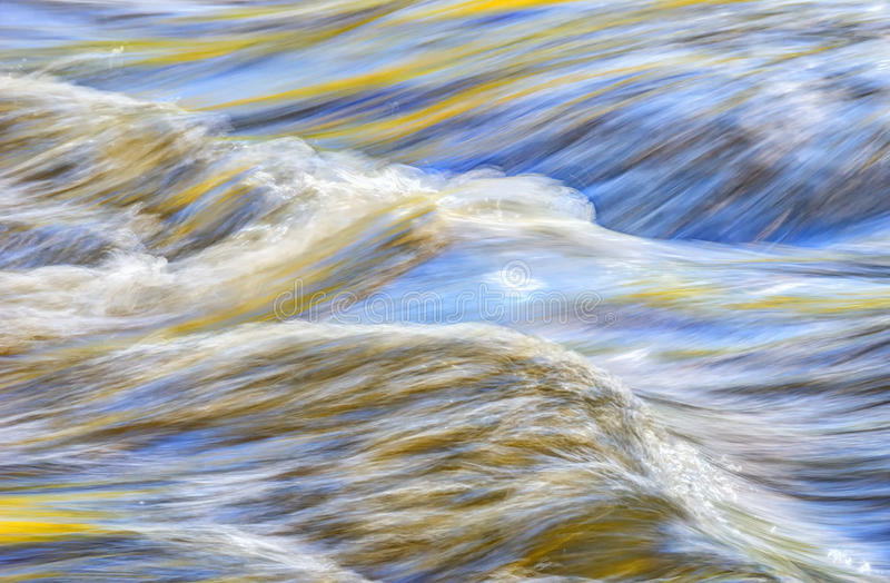 Abstract water closeup. On the New River in West Virginia royalty free stock images