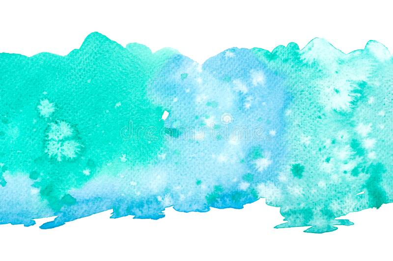 Abstract water colorful painting. Pastel color illustration concept stock image