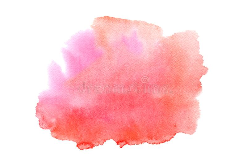 Abstract water colorful painting. Pastel color illustration concept royalty free stock photography