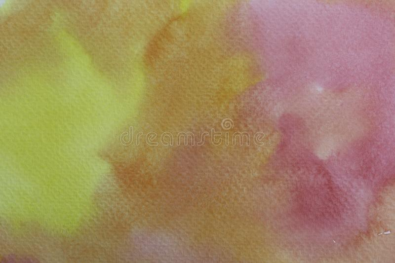 Abstract water colorful painting. Pastel color illustration concept royalty free illustration