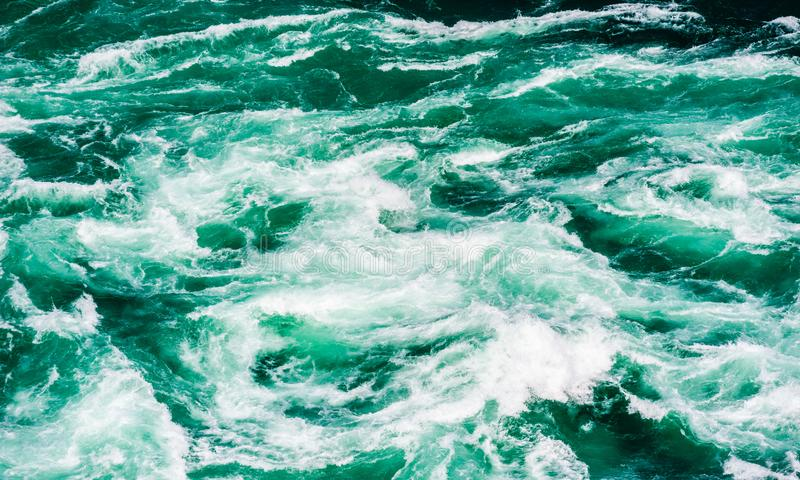 Abstract water currents and rapids in green river royalty free stock photography
