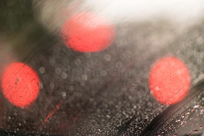 Abstract Water drops on the glass stock photography