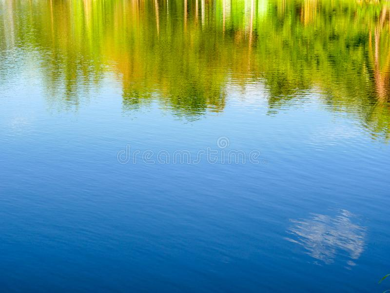 Abstract water reflection texture background stock images