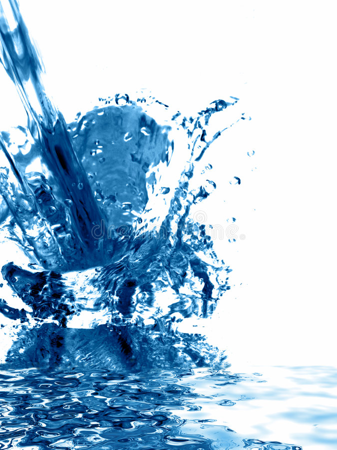 Abstract water splash background royalty free stock image