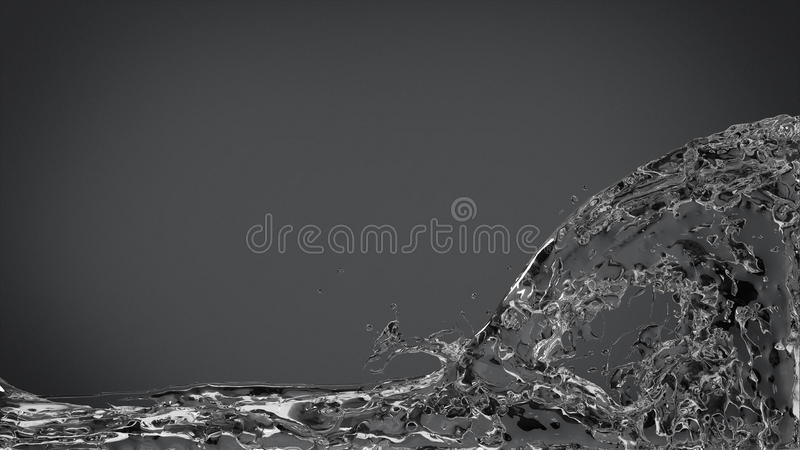 Download Abstract Water Splash On Elegant Dark Gray Stock Illustration - Image: 36987462