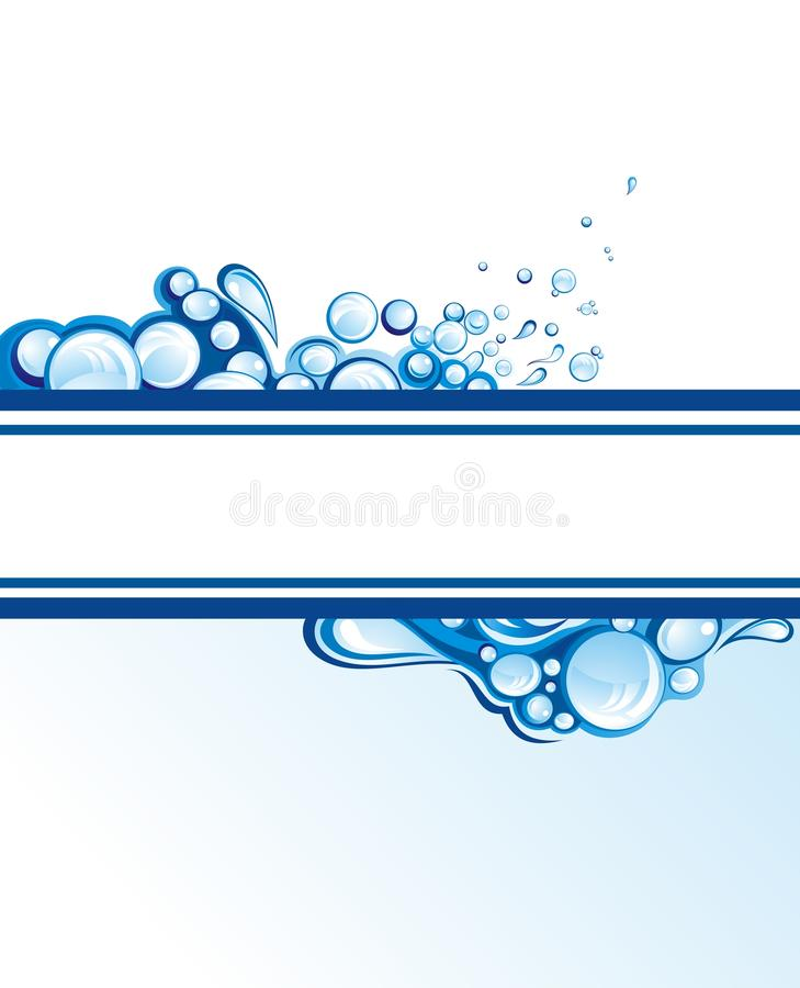 Abstract water splashes vector illustration