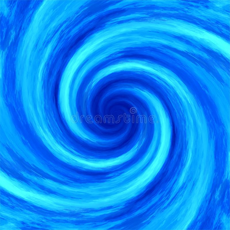 Abstract water swirl whirlpool spiral background. Illustration stock images