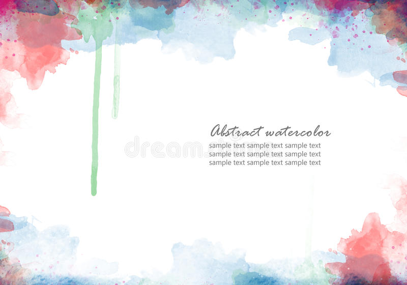 Abstract watercolor stock illustration