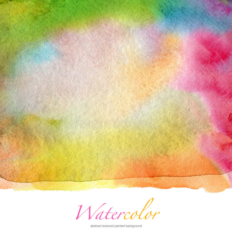 Abstract watercolor and acrylic painted background. Paper texture stock photos