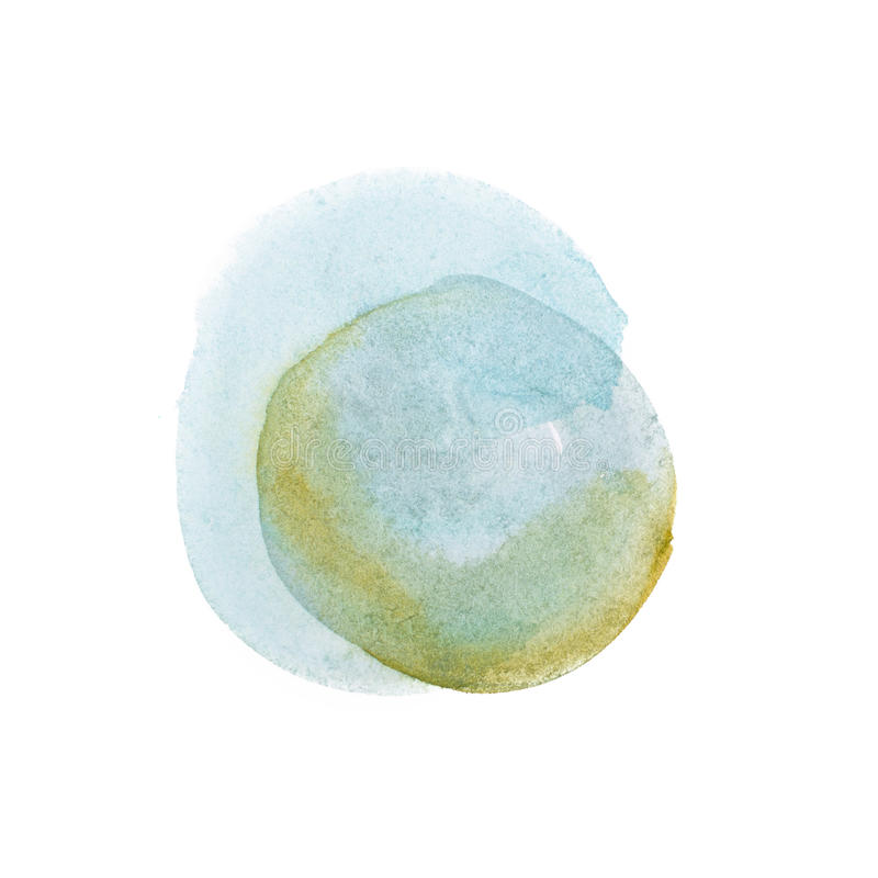 Abstract watercolor aquarelle hand drawn colorful shapes art paint splatter stain on white background.  stock photos