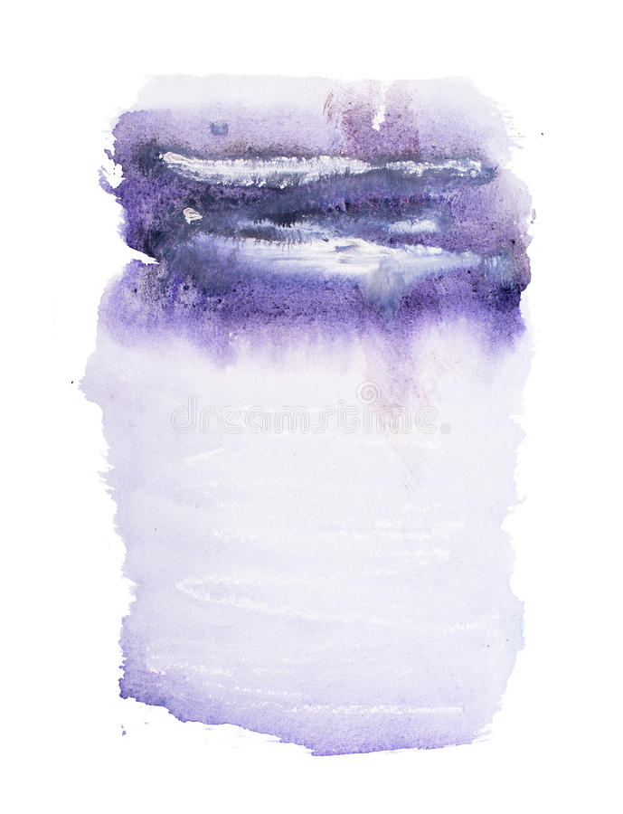 Abstract watercolor aquarelle hand drawn colorful shapes art paint splatter stain on white background.  royalty free stock image