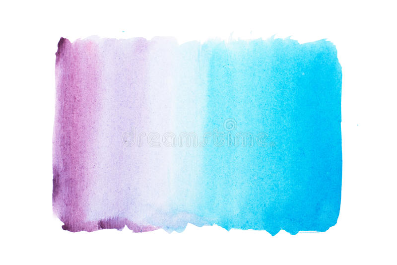 Abstract watercolor aquarelle paint hand drawn colorful splatter stain. Abstract watercolor aquarelle paint hand drawn colorful splatter stain royalty free stock photography