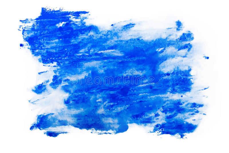 Abstract watercolor aquarelle paint hand drawn colorful splatter stain.  royalty free stock images
