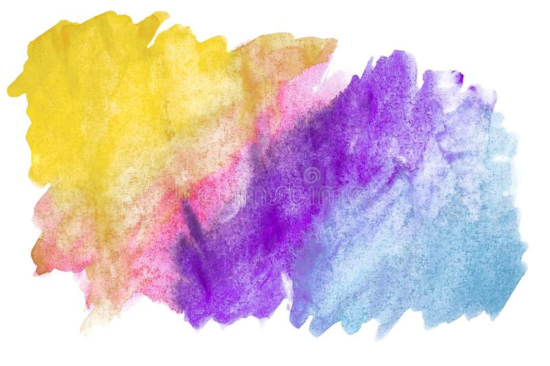 Abstract watercolor art hand paint on white background. Watercolor background vector illustration