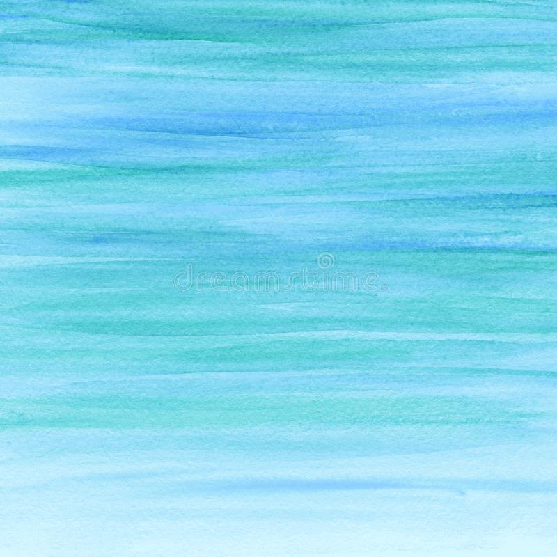 Abstract watercolor azure background. Watercolor paint. Watercolor texture. Watercolor paint. Watercolor texture. Multicolor watercolor texture. Your text royalty free illustration